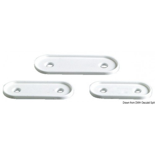 Base blanche pour Hollow Cleat - 150 mm